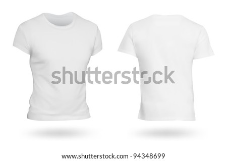 White T-shirt template. Photo-realistic mesh design.