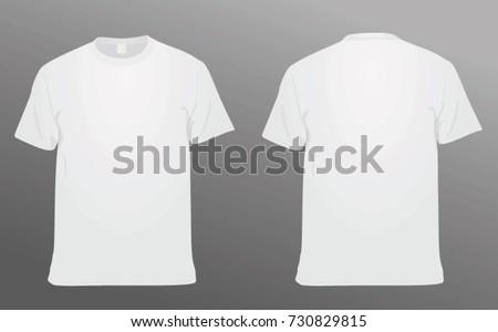 White t shirt. vector illustration