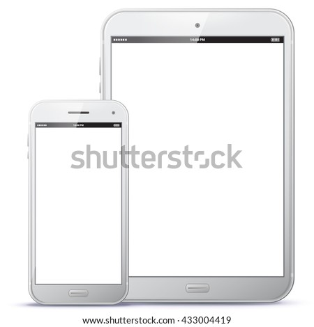 white tablet computer and smart