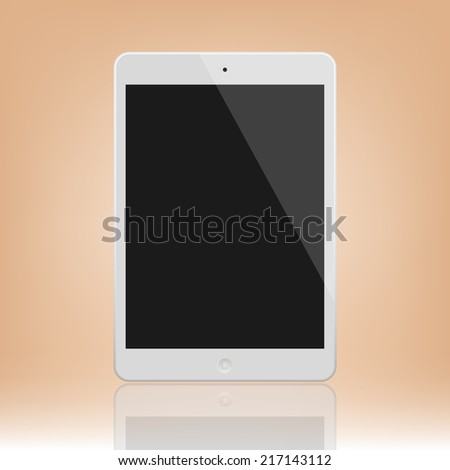 White Tablet Computer Illustration Similar To iPad