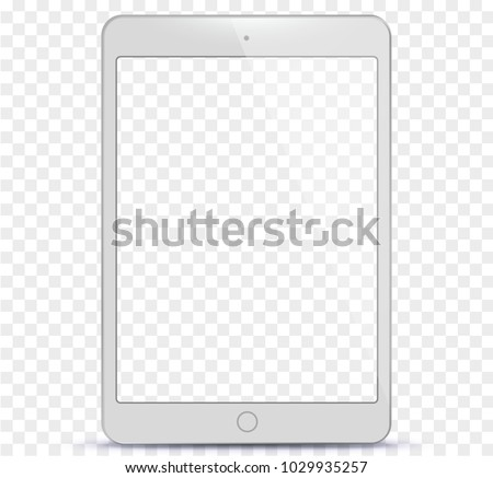 white tablet computer with
