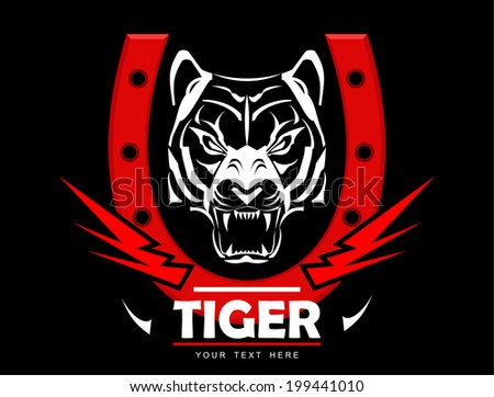 white tiger head with the