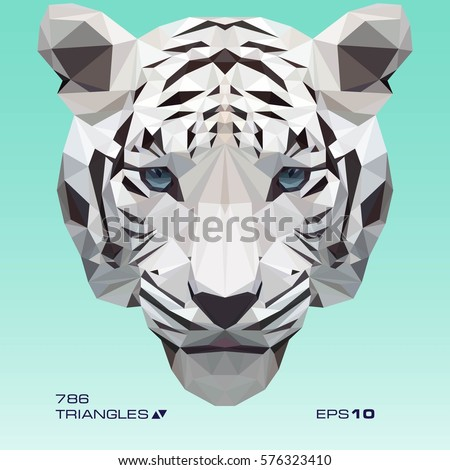 white tiger vector illustration