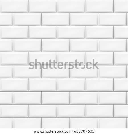 White tiles background. Vector illustration. Eps 10.