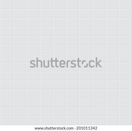 White tiles vector texture