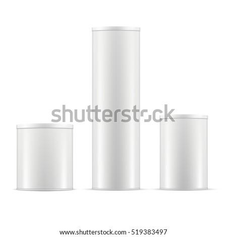 white tin cans tin box