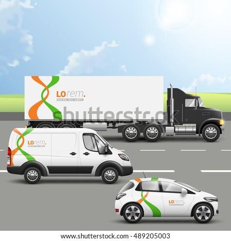white transport advertising