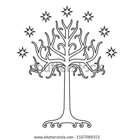 white tree of gondor isolated