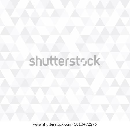 white triangular mosaic