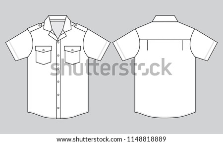 White Uniforms Shirt for Template (Front & Back)