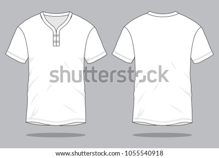 Free V Neck White Shirt Template Vector - Download Free Vector Art ...