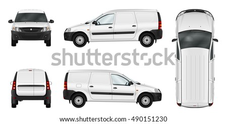 white vector car isolated