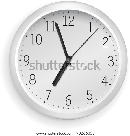 White vector clock.