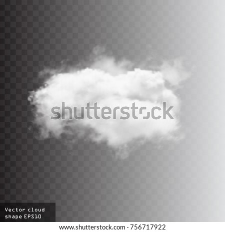 Realistic clouds on transparent background - Download Free