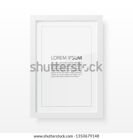 White Vector frame for image and text #1350679148