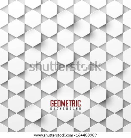 white vector geometric