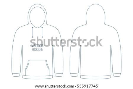 Blank Hooded Sweatshirt template Illustration - Download Free Vector ...