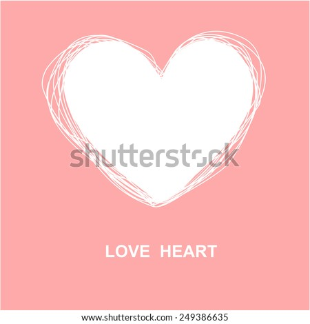 white vector love heart