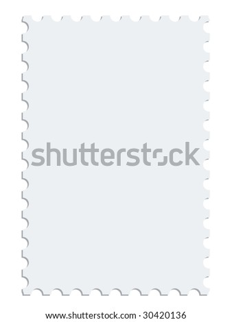 White vector postage stamp