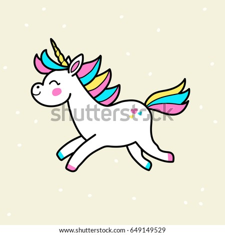 white vector unicorn patch with
