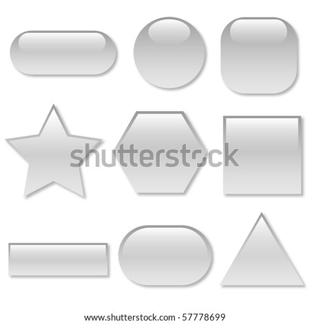 White Vector Web Buttons