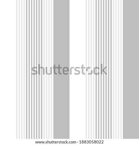 White vertical striped seamless pattern background suitable for fashion textiles, graphics Foto stock ©