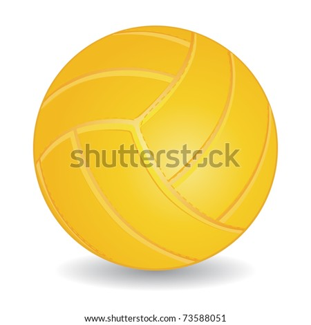 White volleyball ball isolated over white, vector illustration