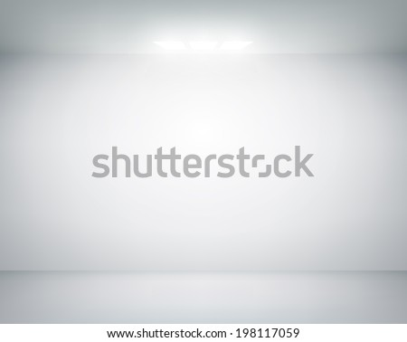 white wall on which shines a
