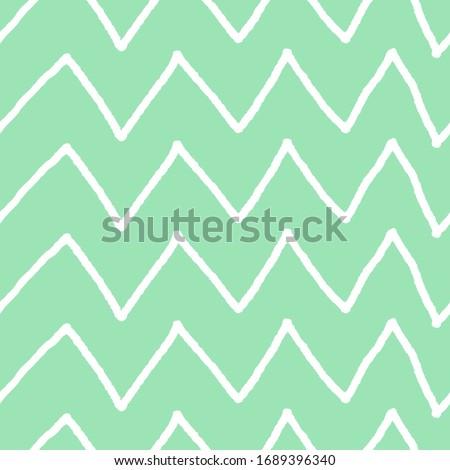White waves on green background. Vector illustration.