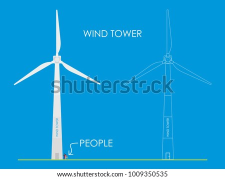 White wind tower
