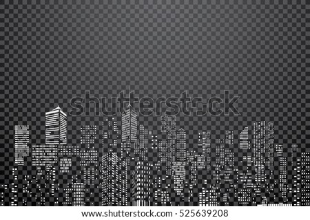 white windows on city skylines