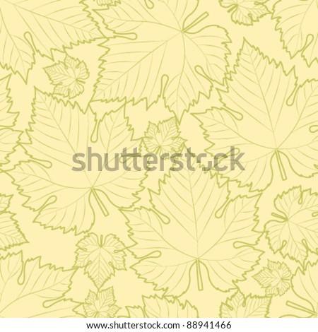 white wine leaf seamless pattern