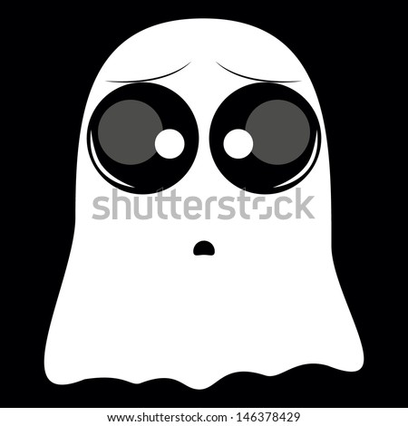 white with big eyes ghost on