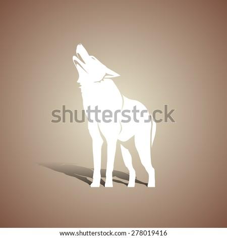 white wolf silhouette