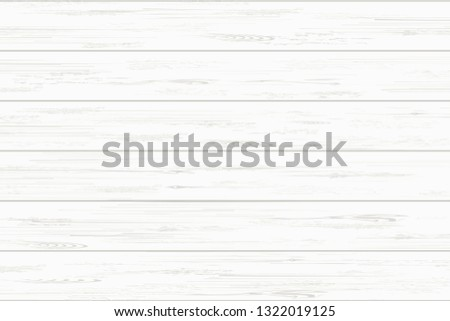 White wood plank texture for background. Vector illustration. #1322019125