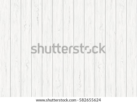 White wood plank texture vector background