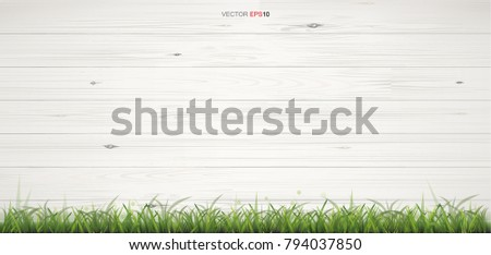 white wood texture with green
