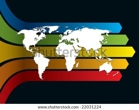 Orange central america map vector download free vector art white world map on a rainbow background conceptual business illustration the base map is gumiabroncs Image collections