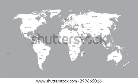 White world map vector download free vector art stock graphics white world map with names of all countries gumiabroncs Images