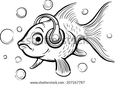 whiteboard drawing   goldfish