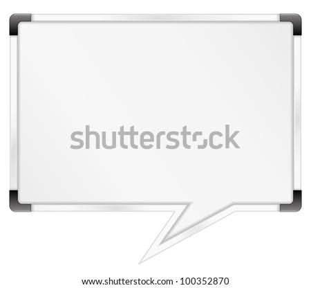 Whiteboard shaped as speech bubble, vector eps10 illustration