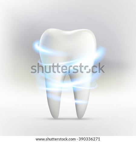 whitening of human toothvector