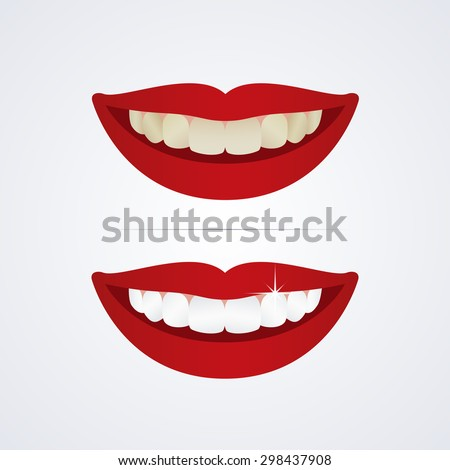 whitening teeth vector