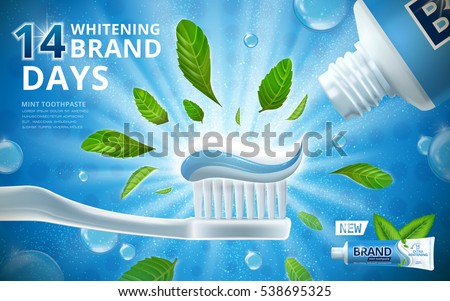 whitening toothpaste ads  mint