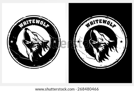 whitewolf vector logo