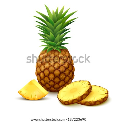 whole pineapple with round