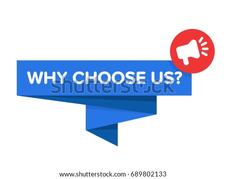 why choose us badge vector