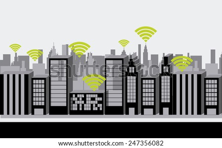 wi fi connection design  vector