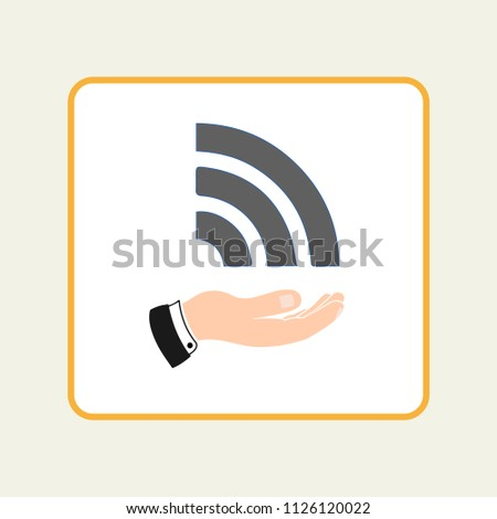 Wi fi icon in the hand. Wireless and wifi icons. Wireless Network Symbol wifi icon. Wireless and wifi vector.