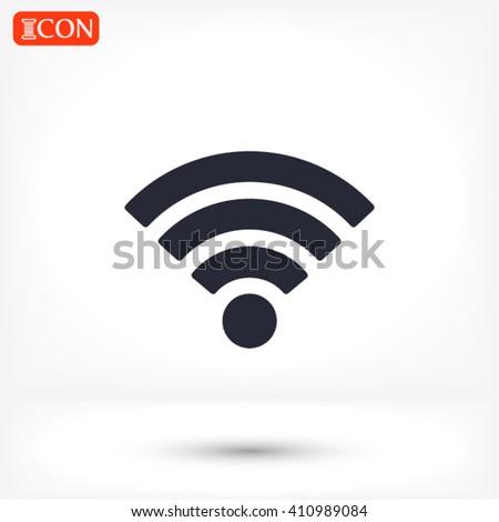 Wi fi icon vector #410989084